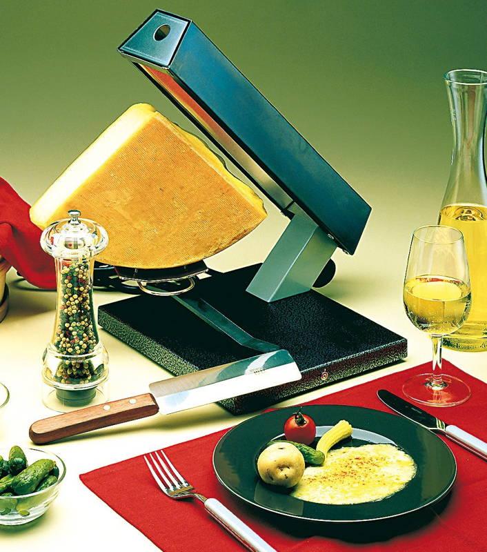 Appareil raclette quart de meule party bron coucke - Appareil raclette 4 personnes ...