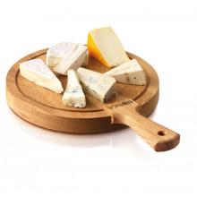 Plateau à fromage en bois rond 30 cm, Planche Boska Friends