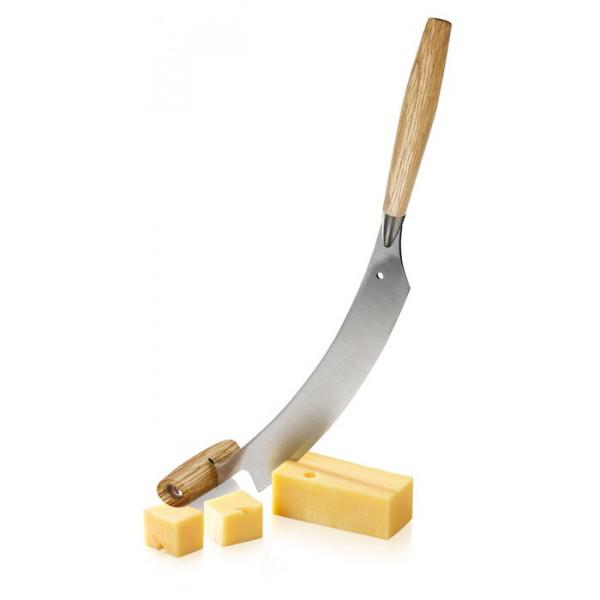 Couteau à fromage hollandais avec manches en chêne et lame Inox