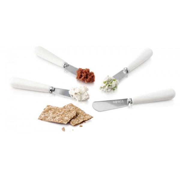 Lot de 4 couteaux à tartiner en porcelaine Boska Life