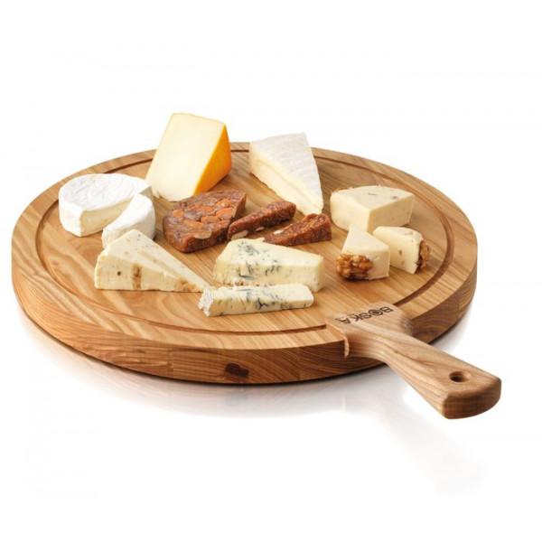 Plateau à fromage bois rond 40 cm, Planche Boska Friends