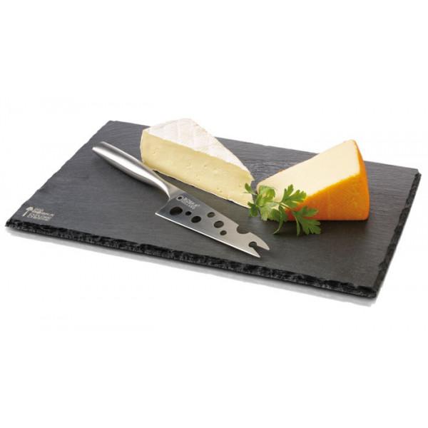 Plateau à fromage en ardoise + couteau Boska Cheesy Monaco