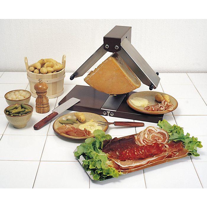 Raclette br zi re appareil raclette traditionnel pour meule de fromage - Appareil a raclette 10 personnes ...