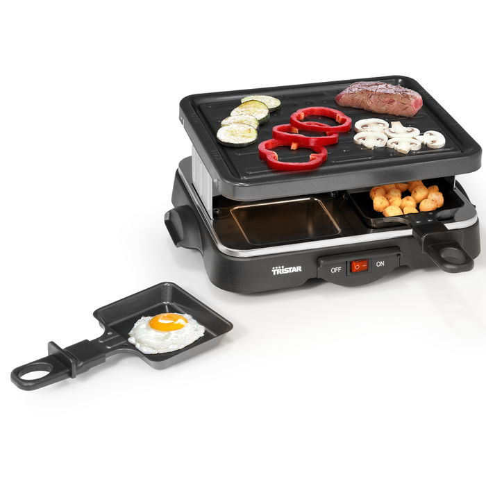 appareil raclette 4 personnes 500w tristar raviday fromage. Black Bedroom Furniture Sets. Home Design Ideas