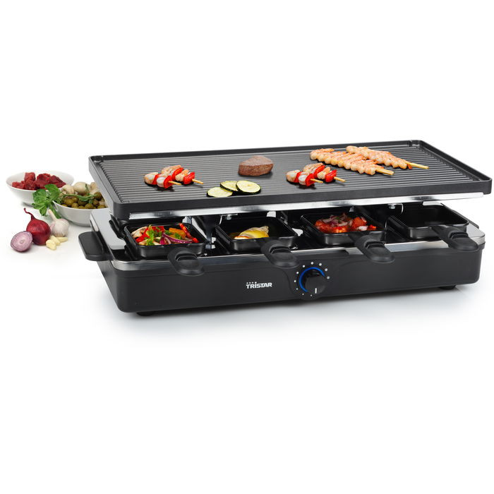 appareil raclette 8 personnes 1400w tristar raviday fromage. Black Bedroom Furniture Sets. Home Design Ideas