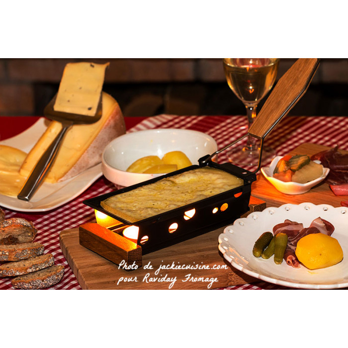 service raclette avec bougies pour 2 personnes partyclette boska life. Black Bedroom Furniture Sets. Home Design Ideas