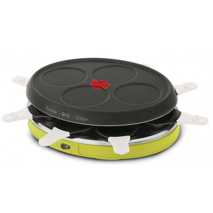 appareil raclette 8 personnes tefal colormania raviday fromage. Black Bedroom Furniture Sets. Home Design Ideas